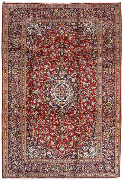 Keshan Matto 207X304 Itämainen Käsinsolmittu Tummanpunainen/Tummanruskea (Villa, Persia/Iran)