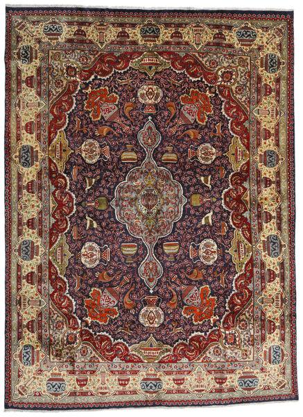 Kashmar Matto 294X396 Itämainen Käsinsolmittu Tummanpunainen/Tummanruskea/Vaaleanruskea Isot (Villa, Persia/Iran)