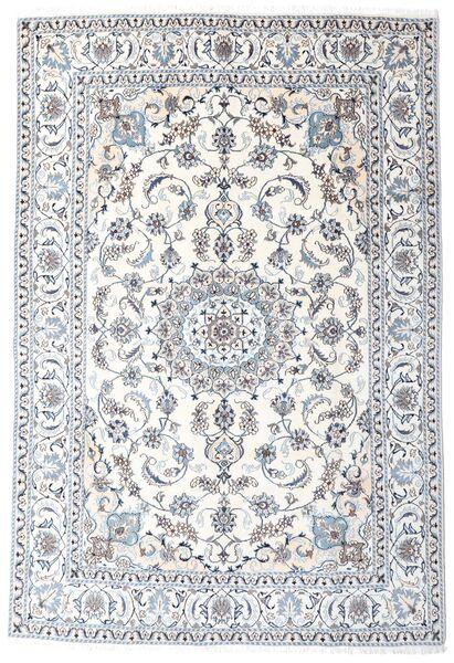 Nain Matto 196X287 Itämainen Käsinsolmittu Valkoinen/Creme/Vaaleanharmaa (Villa, Persia/Iran)