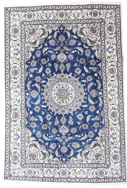 Nain Matto 195X290 Itämainen Käsinsolmittu Vaaleanharmaa/Valkoinen/Creme (Villa, Persia/Iran)