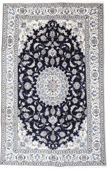 Nain Matto 193X302 Itämainen Käsinsolmittu Vaaleanharmaa/Tummanvioletti (Villa, Persia/Iran)