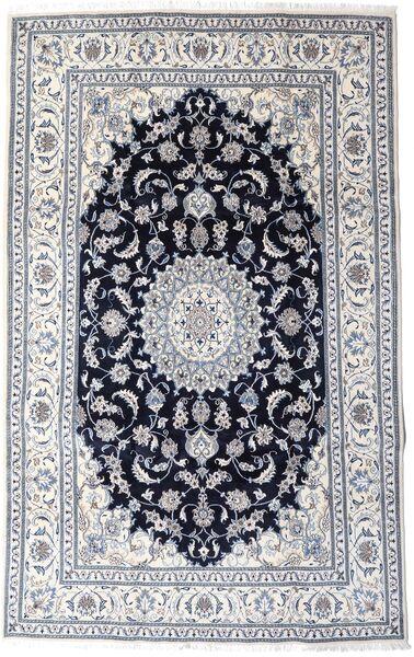 Nain Matto 197X313 Itämainen Käsinsolmittu Vaaleanharmaa/Musta (Villa, Persia/Iran)