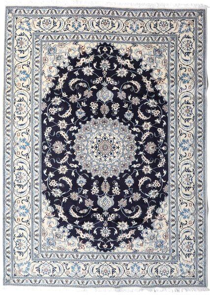 Nain Matto 202X276 Itämainen Käsinsolmittu Vaaleanharmaa/Valkoinen/Creme (Villa, Persia/Iran)