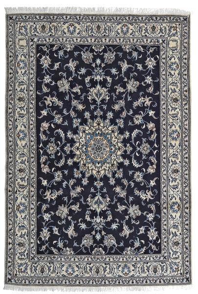 Nain Matto 164X242 Itämainen Käsinsolmittu Musta/Vaaleanharmaa (Villa, Persia/Iran)