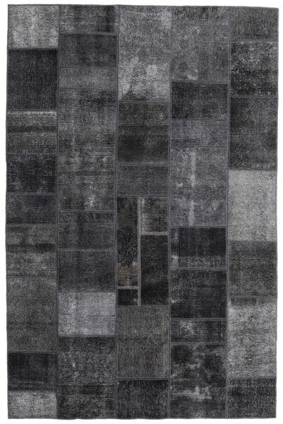 Patchwork - Persien/Iran Matto 200X303 Moderni Käsinsolmittu Tummanharmaa (Villa, Persia/Iran)