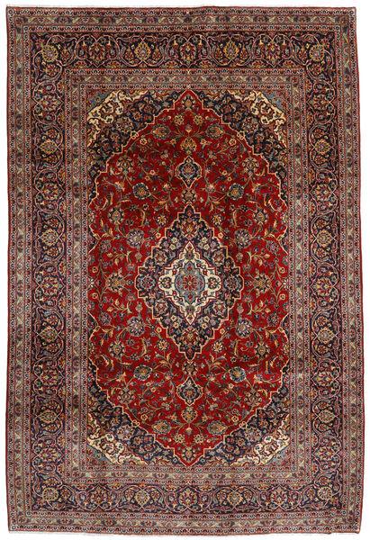 Keshan Matto 210X312 Itämainen Käsinsolmittu Tummanpunainen/Tummanharmaa (Villa, Persia/Iran)