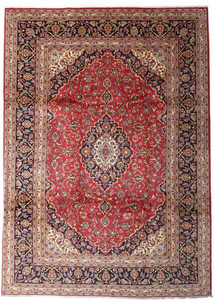 Keshan Matto 247X342 Itämainen Käsinsolmittu Tummanpunainen/Ruskea (Villa, Persia/Iran)