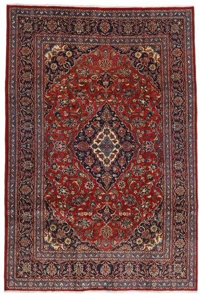 Mashad Matto 200X292 Itämainen Käsinsolmittu Tummanpunainen/Musta (Villa, Persia/Iran)