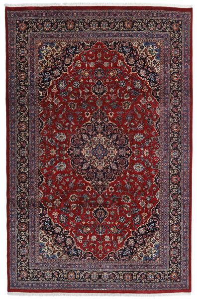 Mashad Matto 198X309 Itämainen Käsinsolmittu Tummanpunainen/Tummanruskea (Villa, Persia/Iran)