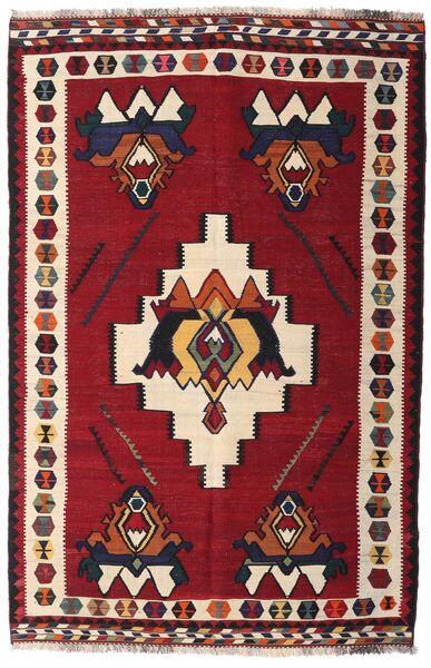 Kelim Vintage Matto 153X232 Itämainen Käsinkudottu Tummanpunainen/Tummanruskea (Villa, Persia/Iran)
