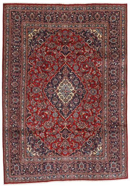 Mashad Matto 194X274 Itämainen Käsinsolmittu Tummanpunainen/Tummanharmaa (Villa, Persia/Iran)