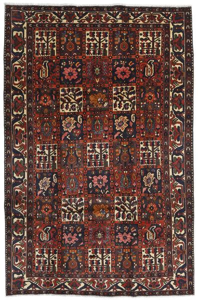Bakhtiar Matto 204X312 Itämainen Käsinsolmittu Tummanpunainen/Musta (Villa, Persia/Iran)