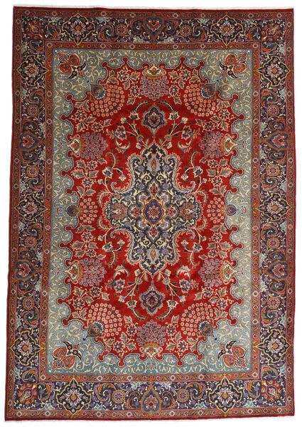 Mashad Matto 247X350 Itämainen Käsinsolmittu Tummanruskea/Tummanpunainen (Villa, Persia/Iran)
