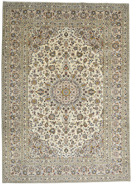 Keshan Matto 244X340 Itämainen Käsinsolmittu Tummanharmaa/Vaaleanharmaa (Villa, Persia/Iran)