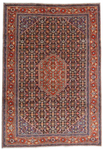 Ardebil Matto 234X330 Itämainen Käsinsolmittu Tummanpunainen/Tummanruskea (Villa, Persia/Iran)
