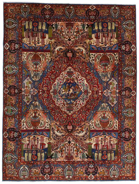 Kashmar Matto 293X391 Itämainen Käsinsolmittu Tummanruskea/Tummanpunainen Isot (Villa, Persia/Iran)