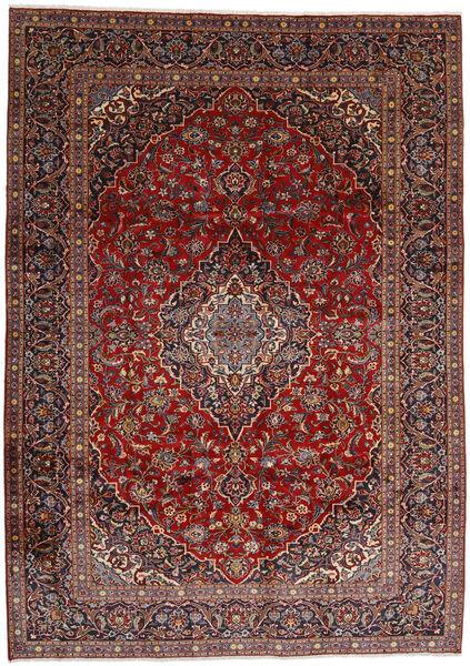 Najafabad Matto 267X372 Itämainen Käsinsolmittu Tummanpunainen/Musta Isot (Villa, Persia/Iran)