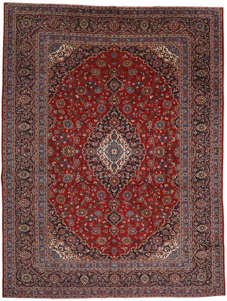 Keshan Matto 292X384 Itämainen Käsinsolmittu Tummanpunainen/Musta Isot (Villa, Persia/Iran)