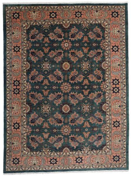 Ardebil Matto 295X393 Itämainen Käsinsolmittu Musta/Tummanpunainen Isot (Villa, Persia/Iran)