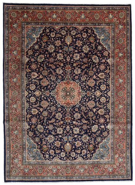 Sarough Matto 275X376 Itämainen Käsinsolmittu Musta/Tummanruskea Isot (Villa, Persia/Iran)