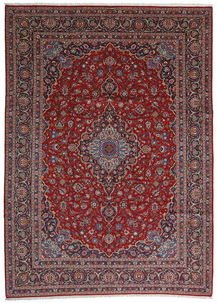 Keshan Matto 292X406 Itämainen Käsinsolmittu Tummanruskea/Tummanpunainen Isot (Villa, Persia/Iran)