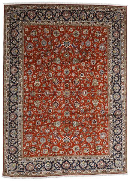 Tabriz Matto 280X384 Itämainen Käsinsolmittu Tummanpunainen/Tummanruskea Isot (Villa, Persia/Iran)