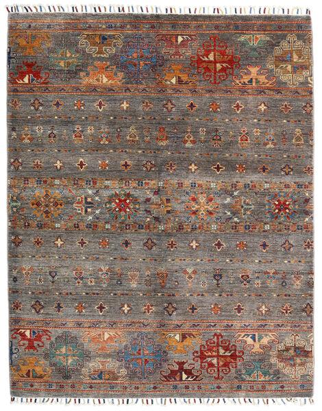 Shabargan Matto 152X193 Moderni Käsinsolmittu Tummanpunainen/Vaaleanharmaa (Villa, Afganistan)