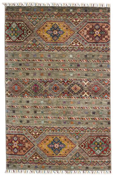 Shabargan Matto 103X158 Moderni Käsinsolmittu Oliivinvihreä/Tummanharmaa (Villa, Afganistan)