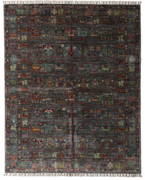 Shabargan Matto 159X195 Moderni Käsinsolmittu Tummanruskea/Tummanharmaa (Villa, Afganistan)