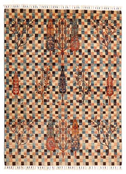 Shabargan Matto 149X198 Moderni Käsinsolmittu Vaaleanruskea/Tummanruskea (Villa, Afganistan)