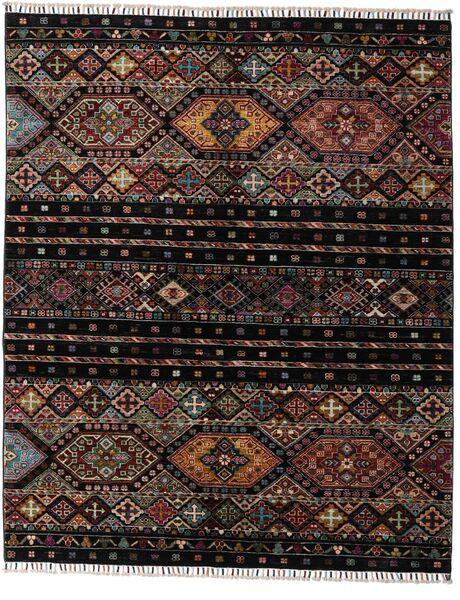 Shabargan Matto 156X190 Moderni Käsinsolmittu Tummanruskea/Tummanharmaa (Villa, Afganistan)