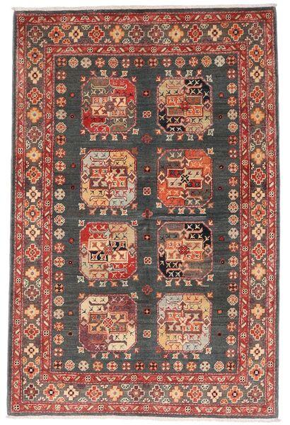 Kazak Matto 118X179 Itämainen Käsinsolmittu Tummanpunainen/Tummanharmaa (Villa, Afganistan)