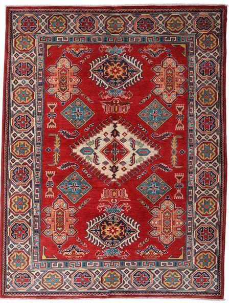 Kazak Matto 152X198 Itämainen Käsinsolmittu Tummanpunainen/Tummanruskea (Villa, Afganistan)