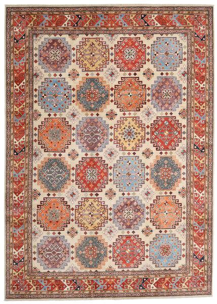 Kazak Matto 244X342 Itämainen Käsinsolmittu Vaaleanruskea/Beige (Villa, Afganistan)