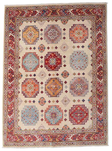 Kazak Matto 149X203 Itämainen Käsinsolmittu Tummanpunainen/Vaaleanruskea (Villa, Afganistan)