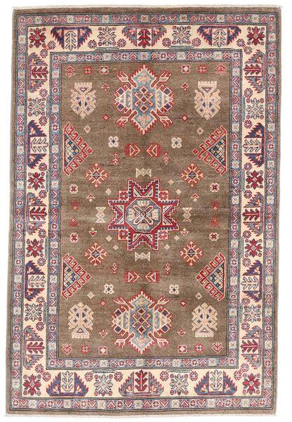 Kazak Matto 119X179 Itämainen Käsinsolmittu Ruskea/Vaaleanharmaa (Villa, Afganistan)