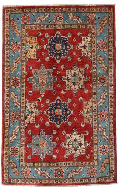 Kazak Matto 118X188 Itämainen Käsinsolmittu Tummanpunainen/Tummanruskea (Villa, Afganistan)
