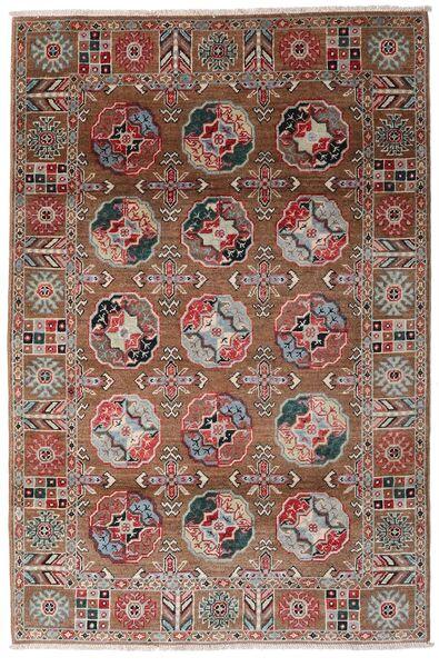 Kazak Matto 117X176 Itämainen Käsinsolmittu Tummanpunainen/Tummanruskea (Villa, Afganistan)