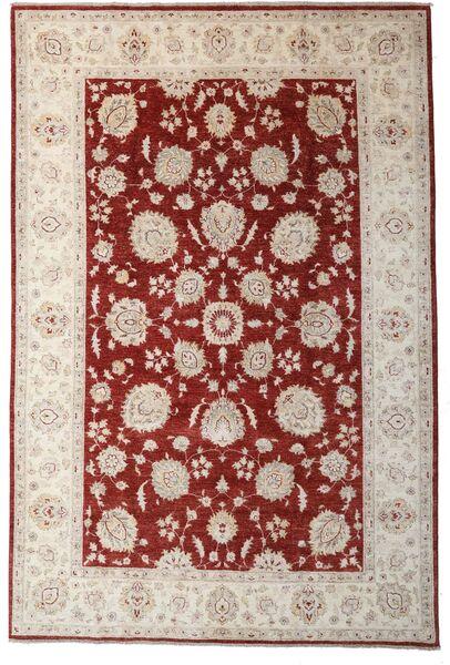 Ziegler Matto 197X297 Itämainen Käsinsolmittu Vaaleanharmaa/Tummanpunainen (Villa, Pakistan)