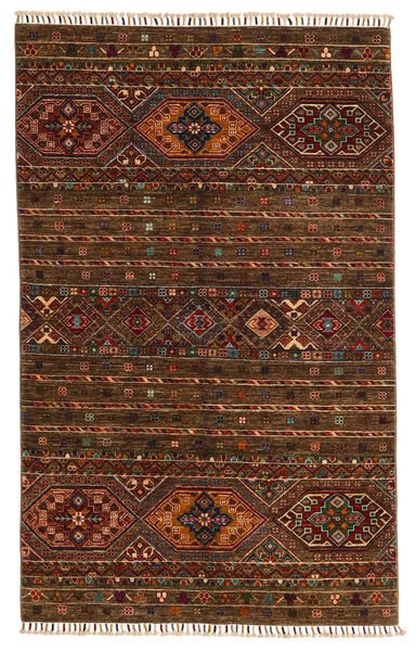 Shabargan Matto 117X187 Moderni Käsinsolmittu Tummanruskea/Ruskea (Villa, Afganistan)