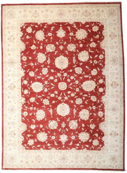 Ziegler Matto 303X411 Itämainen Käsinsolmittu Tummanpunainen/Keltainen Isot (Villa, Pakistan)