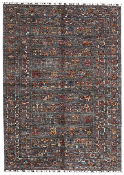 Shabargan Matto 174X240 Moderni Käsinsolmittu Tummanruskea/Tummanharmaa (Villa, Afganistan)