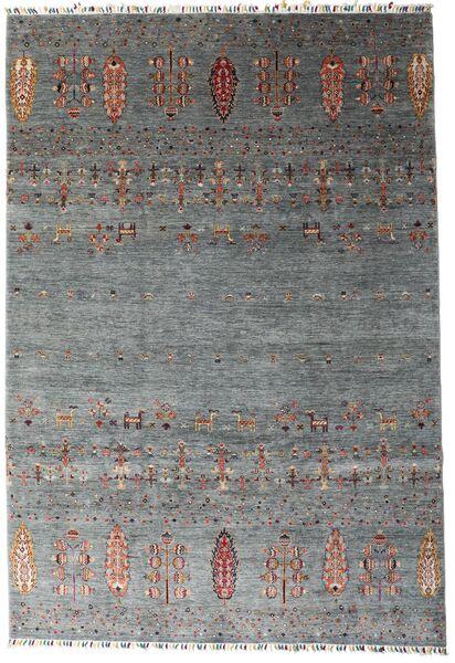 Shabargan Matto 207X303 Moderni Käsinsolmittu Tummanharmaa/Sininen (Villa, Afganistan)