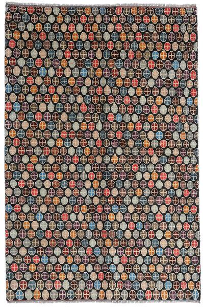 Moroccan Berber - Afghanistan Matto 168X252 Moderni Käsinsolmittu Musta/Vaaleanharmaa (Villa, Afganistan)