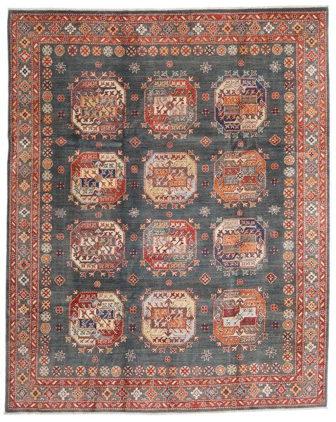 Kazak Matto 240X298 Itämainen Käsinsolmittu Tummanharmaa/Tummanpunainen (Villa, Afganistan)