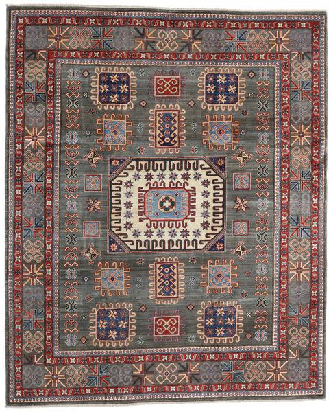 Kazak Matto 251X305 Itämainen Käsinsolmittu Tummanharmaa/Vaaleanruskea Isot (Villa, Afganistan)