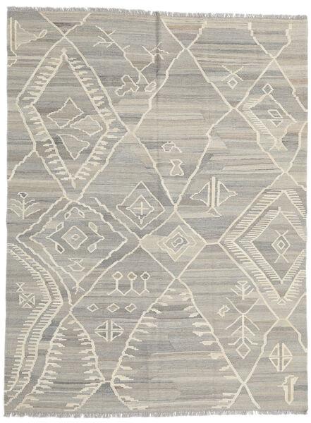 Kelim Moderni Matto 180X235 Moderni Käsinkudottu Vaaleanharmaa/Tummanbeige (Villa, Afganistan)