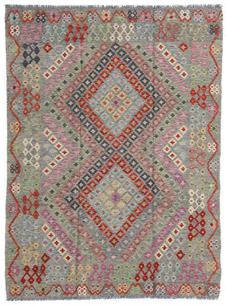 Kelim Afghan Old Style Matto 174X233 Itämainen Käsinkudottu Vaaleanharmaa/Tummanharmaa (Villa, Afganistan)