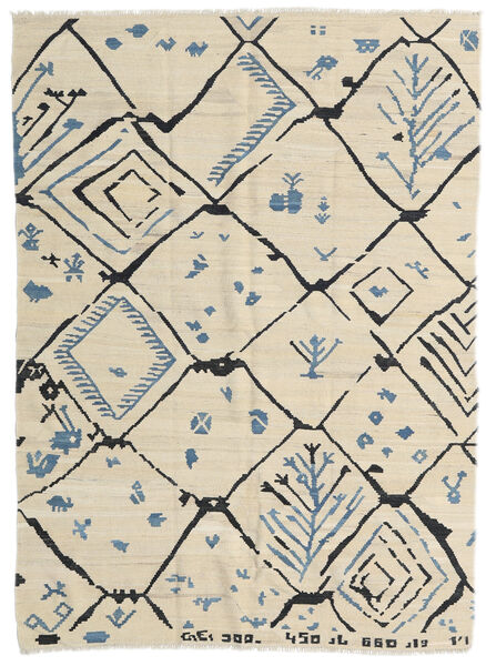 Kelim Moderni Matto 175X237 Moderni Käsinkudottu Tummanbeige/Beige (Villa, Afganistan)