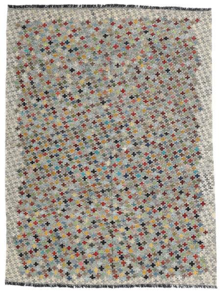 Kelim Afghan Old Style Matto 172X230 Itämainen Käsinkudottu Vaaleanharmaa/Tummanharmaa (Villa, Afganistan)
